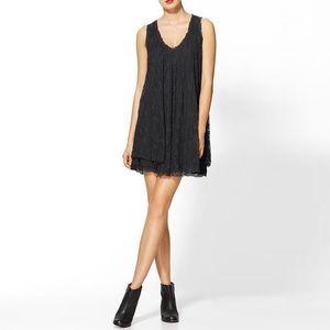 Free People Black Lace Swing Dress NWOT